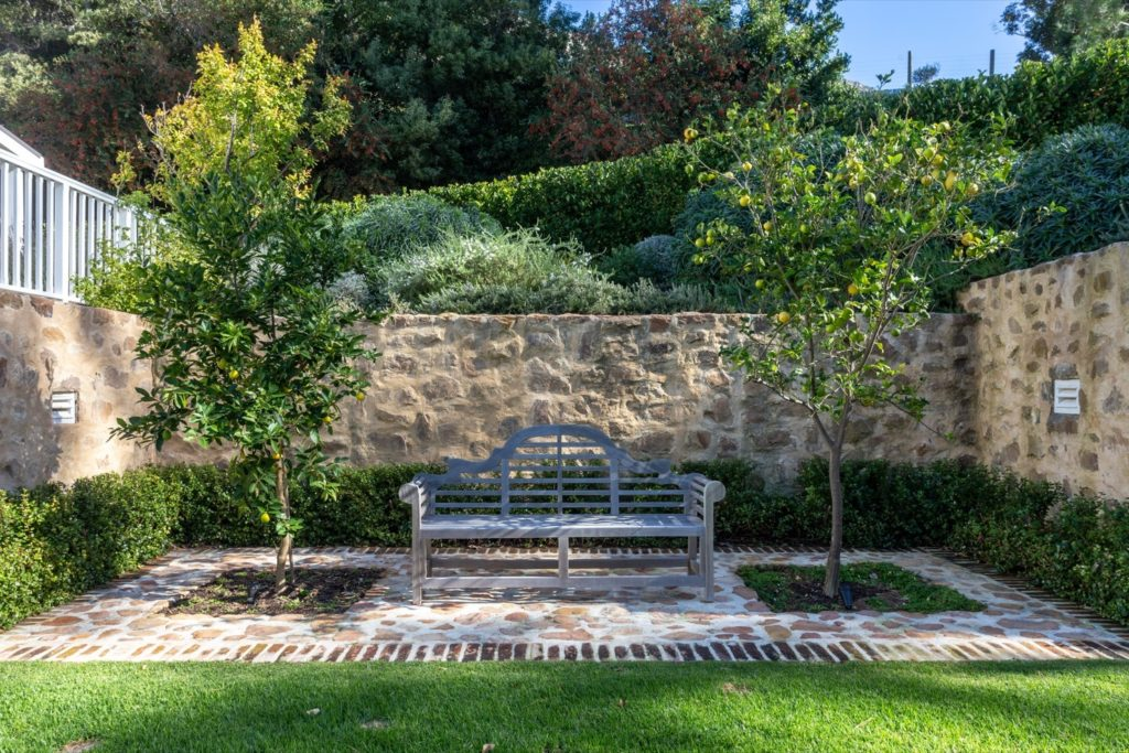Bench in Garden at the Pearl