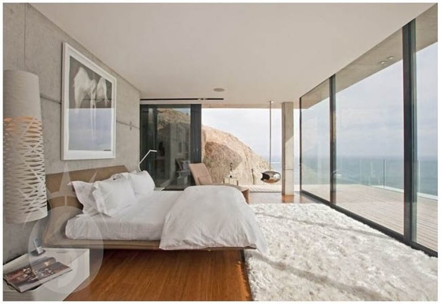 Breathtaking views from Bedroom in Ice House Cape Town