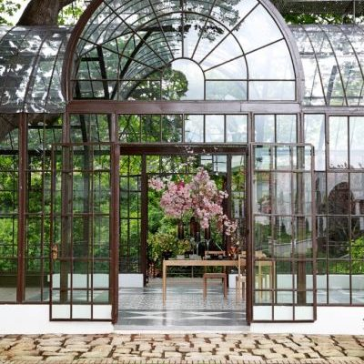 Glass house conservatory at LE JARDIN
