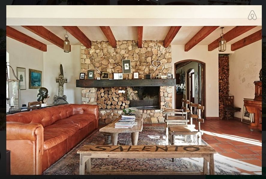 Spanish Style villa with wood fireplace used as film location
