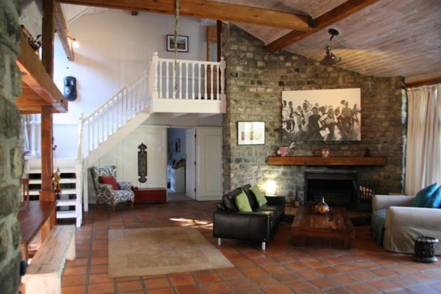 Stand by Me Family home sports stone and wood interiors and large open fireplaces